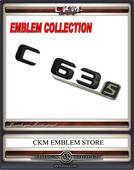 Emblem C63s Baklucka BLACK