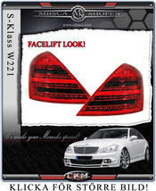 "Facelift ""look"" baklysen 2 st Red/Smoke"